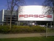 English: Porsche Garage The new location of the Hatfield Porsche Garage (Chrysler now use the old site)