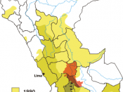 Areas, where Sendero Luminoso was active in Peru