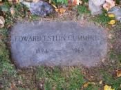 English: Grave of poet E. E. Cummings, located at Forest Hills Cemetery in Jamaica Plain, Massachusetts.