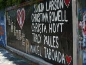 English: Tribute to the victims of the Danny Rolling murder on the 34th Street Wall in Gainesville, Florida