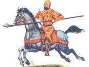 English: Iranian Daylaman (Buyid/Ziarid) soldier فارسی: سرباز ایرانی دیلمی (بویی/زیاری)