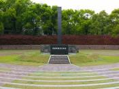 Panorama of the monument at the hypocentre of the Nagasaki A-Bomb blast