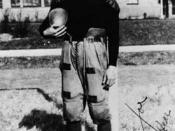 Korean-American football player in Chicago, 1918