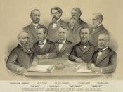 English: President Benjamin Harrison and his cabient