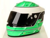 English: Micheal Fitzgerald Arai motor racing helmet