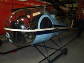 English: Brantly B2B helicopter on display at the Helicopter Museum, Weston-super-Mare