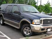 2000-2004 Ford Excursion photographed in USA. Category:Ford Excursion Category:Blue SUVs