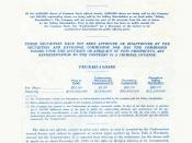 The Initial Public Offering (IPO) Prospectus for Apple Computer Inc. in December 1980. A total of 5 million shares were offered to the public for $22 each. The total outstanding shares after the offering were 54,215,332. The company's officers, directors