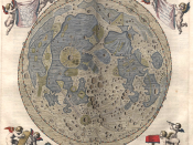 Map of the Moon engraved by astronom Johannes Hevelius