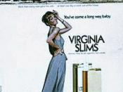 1978 Virginia Slims magazine ad. The image at the top is a photograph of a woman hanging laundry outside. The ad text reads: