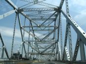 English: Tappan Zee Bridge on Hudson River. (NY) Français : Tappan Zee Bridge sur l'Hudson River. (Etat de New-York - USA)