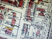 Montréal 1907. Secteur rue Saint-Marc et boul. René-Lévesque.