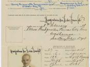 Enemy Alien Registration Affidavit of Hans Joachim von Fischer-Treuenfeld, 02/08/1918