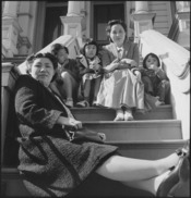 San Francisco, California. Husband of these two women are being held as dangerous enemy aliens. Wi . . . - NARA - 536457