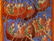 Danish seamen, painted mid-twelfth century. The Viking Age saw Norseman explore, raid, conquer and trade through wide areas of the West.