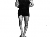 Photograph of Coach Elmer Drulard, founder of the University of Michigan varsity swim team in 1920