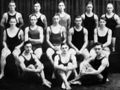 Photograph of the first University of Michigan swim team (
