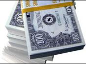 A stack of Money/Picture of money (The following is the description taken from image metadata on the FBI Buffalo Website) Orientation of image: 1 File change date and time: 2010:06:02 12:07:25 Software used: Adobe Photoshop CS3 Windows