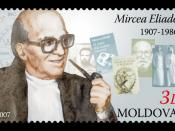 English: Stamp of Moldova; Mircea Eliade