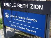 English: Temple Beth Zion Sign
