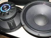 P-Audio Challenger 12in Woofers, showing cast frame, and cone