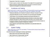 Unit Testing - Acceptance Test Plan during Software Development Testing Phase