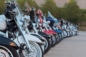 English: Parked motorcycles during Harley-Davidson's 105th anniversary in Milwaukee, Wisconsin