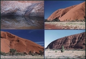 English: Rock formations and water features. Uluru (Ayers Rock), Australia.