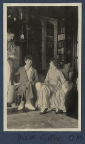 Thomas Stearns ('T.S.') Eliot; Mark Gertler; Lady Ottoline Morrell, by Lady Ottoline Morrell (died 1938). See source website for additional information.