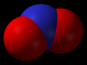 Nitrogen dioxide, a large contributor to the production of smog