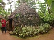 A traditional Chaga hut in Tanzania