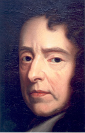 Detail of portrait of Waller, by Kneller