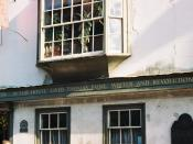 English: Bull House, Thomas Paine's former home in Lewes. Located at 92 Lewes High Street, Lewes, East Sussex BN7 1XH