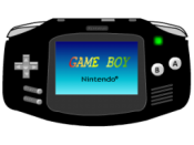 Black Gameboy Advance icon