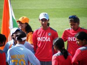Snehal Pradhan of India - ICC Women's Cricket World Cup, Sydney, March 2009.