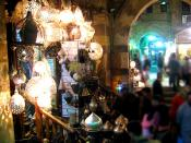 English: An old chandeliers shop at Khan el-Khalili
