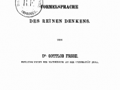 The title page of Gottlob Frege's Begriffsschrift, original 1879 edition