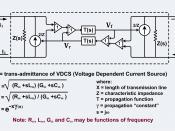 English: A circuit that produces the same response as a balanced transmission line.