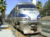 English: Amtrak Pacific Surfliner at Solana Beach, California.