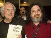 Fernando 'Pino' Solanas and Richard Stallman