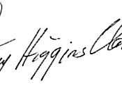 Mary Higgins Clark's signature