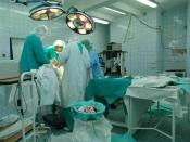 An operating theatre (gynecological hospital of Medical University of Silesia in Bytom)