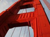 English: Pillar of Golden Gate Bridge. Français : pilier du pont du Golden Gate.