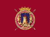 Flag of Lorca, in Murcia (Spain)