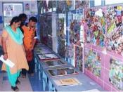 Parents at the Art and Crafts Exhibition at the Parent Teachers Meeting
