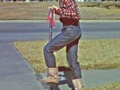 1966. Donna on Pogo Stick, Houston, Texas