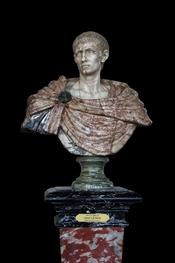 English: Gaius Aurelius Valerius Diocletianus (ca.245-313), Roman Emperor Diocletian. Marble bust, XVIIth century, Florence, Italy. On display at Château de Vaux-le-Vicomte, France. Français : L'empereur Dioclétien (ca.245-313). Buste de marbre sculpté au