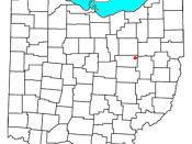 Locator map of the unincorporated community of Winesburg in Holmes County, , .