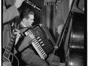 [Portrait of Joe Mooney, Gaeton (Gate) Frega, and Andy Fitzgerald, Eddie Condon's, New York, N.Y., ca. June 1947] (LOC)