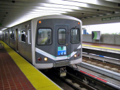 English: Metrorail at Tri-Rail station in Miami
